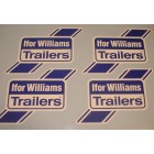 Ifor Williams Horse Trailer Self Adhesive Vinyl Logo Stickers